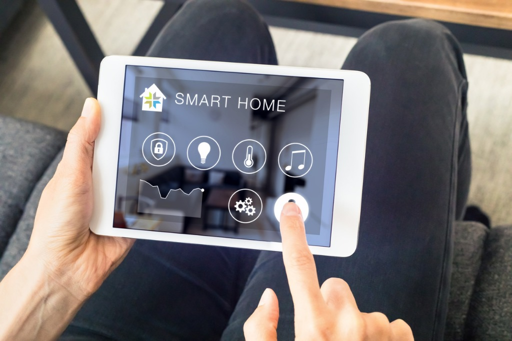 Smart Home with Logo